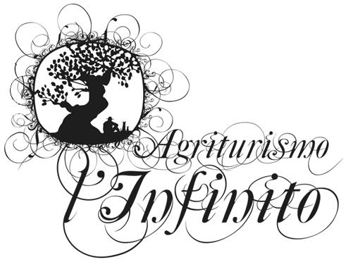 Agriturismo l'Infinito - Logo con Albero - Bianco